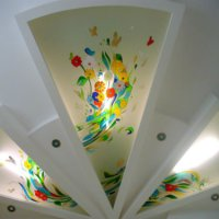 Painted glass in interior design