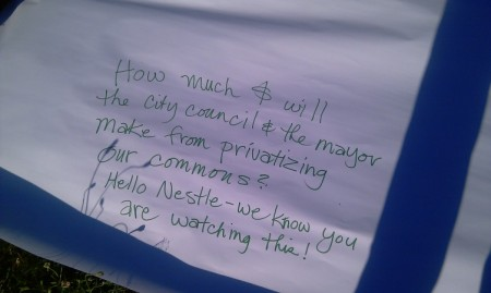Occupy Mt Tabor sign
