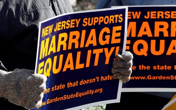 signs for same-sex marriage support