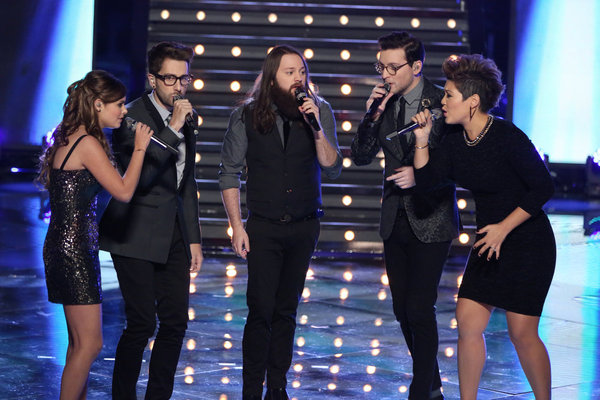 The Voice Top Five sing December 9, 2013