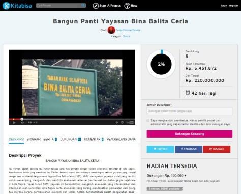 Proyek Bangun Panti Bina Balita Ceria (KitaBisa)