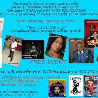 """THE SCREENING OF IT'S """" NEVER TO OLD TO DO GOD'S WORK """" FEB 4TH IN BROOKLYN NY"""