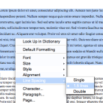 What is line spacing and how can you set it? [Writer, Word & Pages]