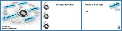 6 sigma presentation layout [libreoffice, openoffice, Presentation templates