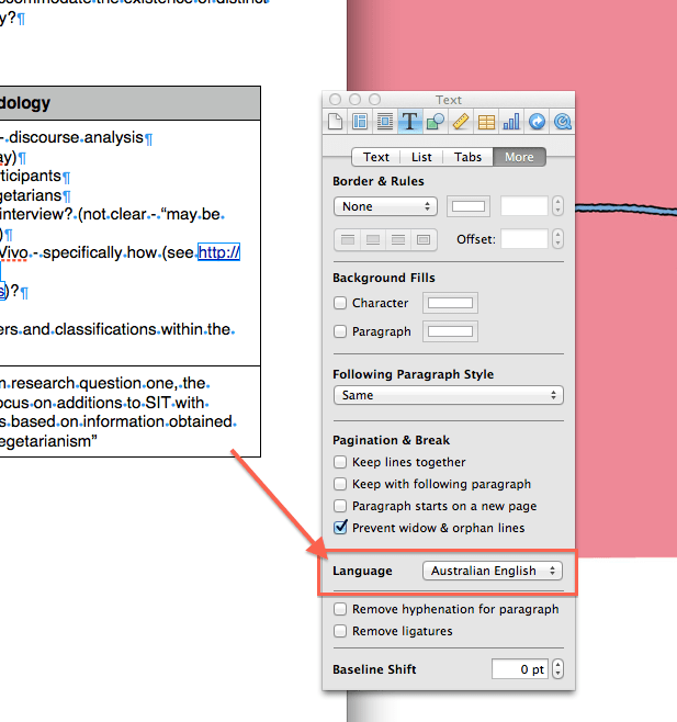 Quick tip: Changing Spelling on a Single Document in Pages (for ...