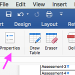 Table Properties – Did they disappear? [Irritating MS Word]
