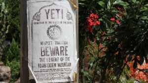 Yeti Sign - Expedition Everest