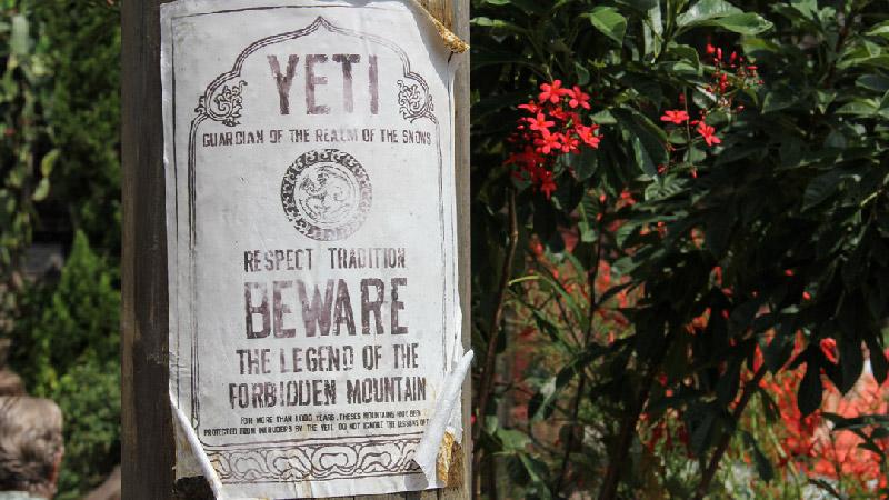 Yeti Sign - Expedition Everest