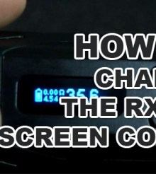 How To Change The Reuleaux RX200 Screen Color