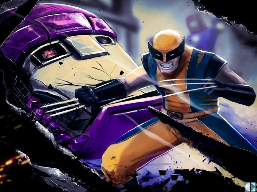 Wolverine_vs_Sentinelle