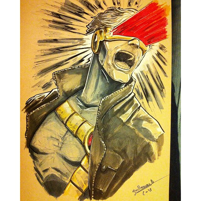 #xmen #comicverse #art #illustration #cyclope #pigmamicron #drawing #comics #marvel #paper #posca