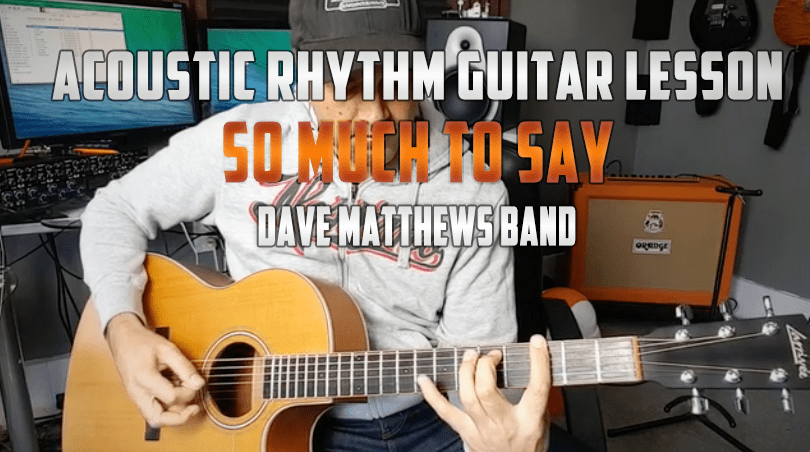 dave matthews- so much to say guitar tab lesson