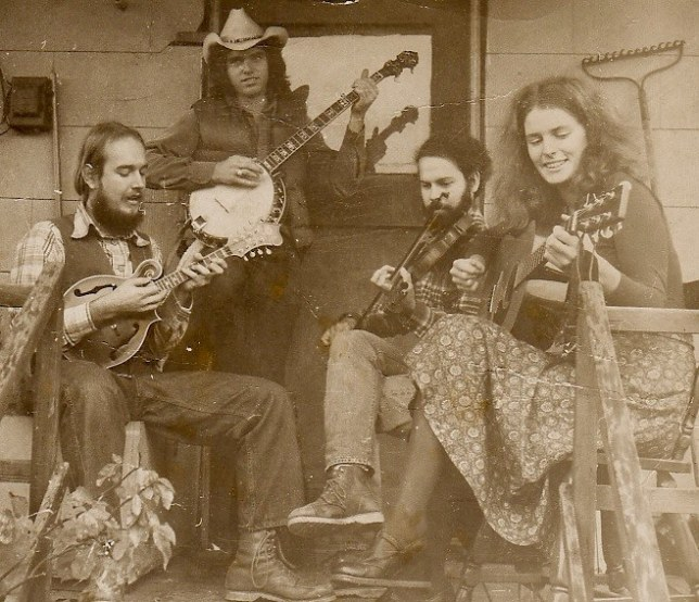 Highwater Stringband - L to R: Paul Kotapish, Jeff Hino, Clyde Curley, Cyd Smith