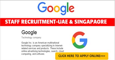Latest Jobs Hiring At Google In Worldwide Online Hiring