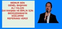 MEMUR SEN GENEL BAŞKANI ALİ YALÇIN'DAN GÜMÜŞHANE'DE MUHTEŞEM KONFERANS