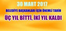 MAHALLİ İDARELER GENEL SEÇİMLERİNE 2 YIL KALDI
