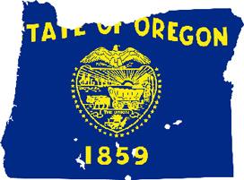 Oregon flag map