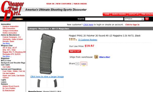 Cheaper Than Dirt is Price Gouging PMAGS