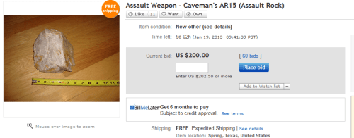 Ebay Assault Weapons