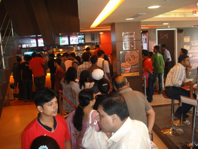 Foodes Waiting for thier turn at the FIrst KFC Store Opening in Guwahati