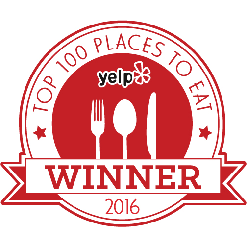 Yelp Top 100 Winner 2016