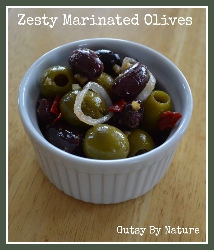 Zesty Marinated Olives - Gutsy By Nature