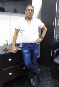 Mr. Beepat in his office at Giftland Mall