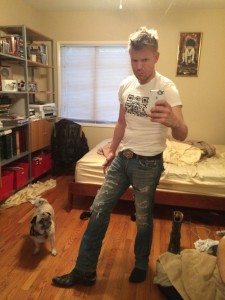 Hunter Lee Hughes with Romeo. Photo credit: Obvious selfie.