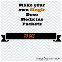 DIY Single Dose Medicine To Go