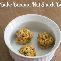 Healthy after school snack: Peanut Butter Banana Nut Snack Balls
