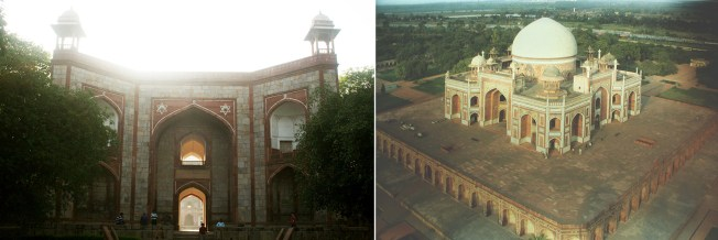 Majestic entrance gate |  aerial view of Humayun's tomb