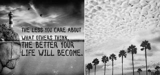 To be Happy, think less of what others think of you.