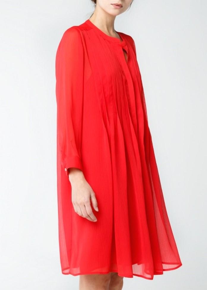 Zara Pleated Chiffon Dress