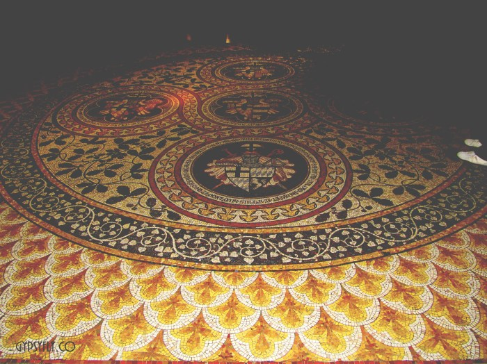 Intricate Floral Motif Floor Mosaic | Cologne Cathedral, Germany