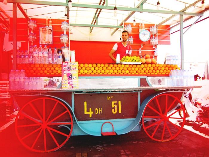 Fresh Orange Juice Stall, Marrakech