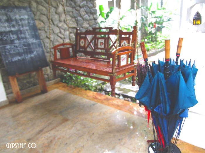 VIntage wooden swing at Spice Tree, Munnar
