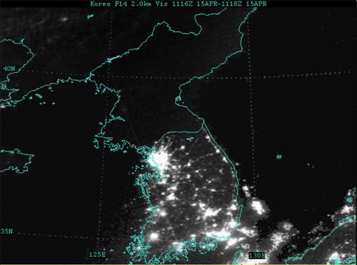 DPRK, la nuit