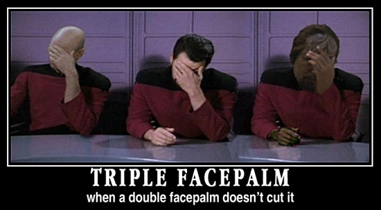 another triple facepalm