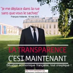hollande : la transparence