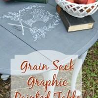 Grain Sack Graphic Painted Table