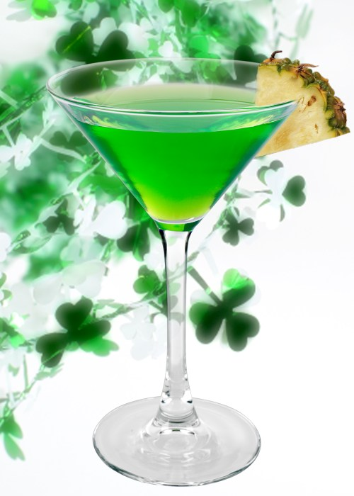 Green drinks for st patricks day for Green cocktails with vodka