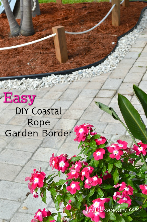 diy coastal rope garden border h20bungalow