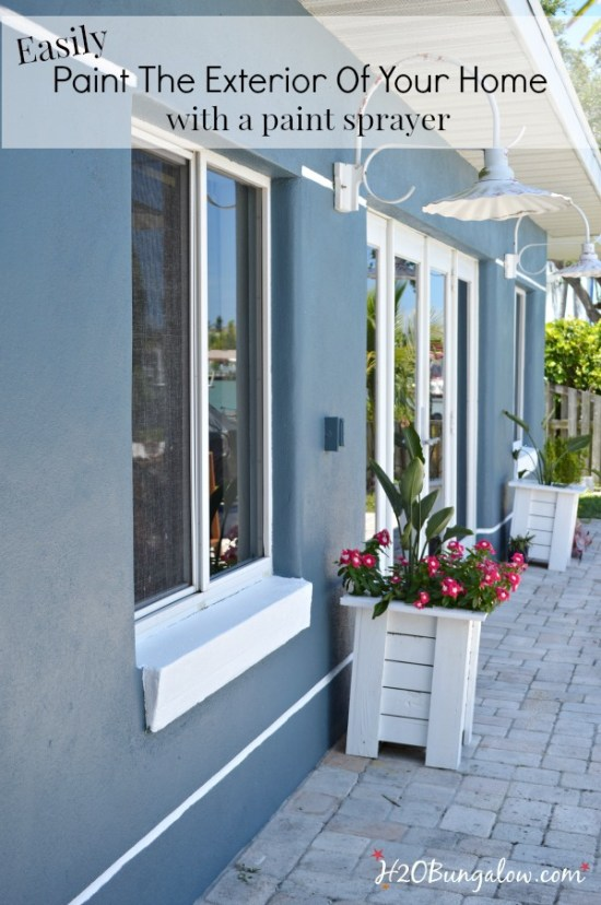How to paint your home with a paint sprayer h20bungalow - Exterior paint sprayers set ...
