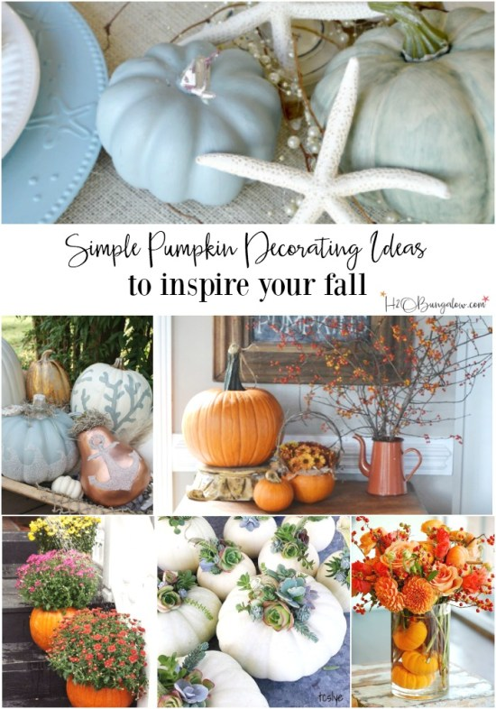 Simple pumpkin decorating inspiration h20bungalow - Fascinating home ideas decorating inspirations you have to see ...