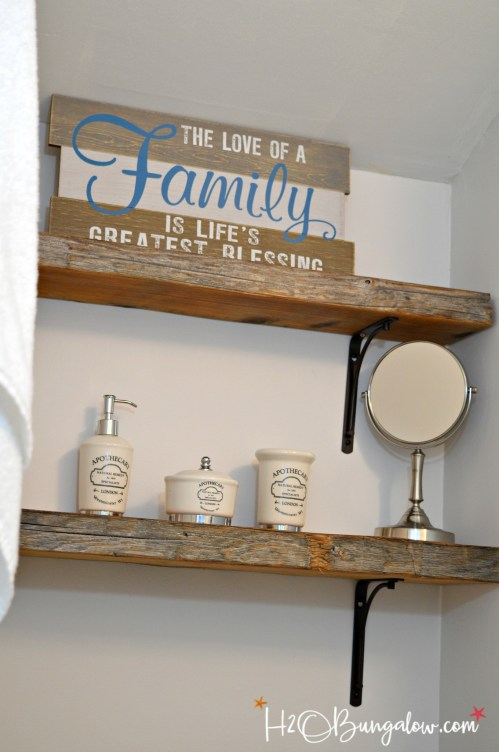 Medium Of Wall Wood Shelf