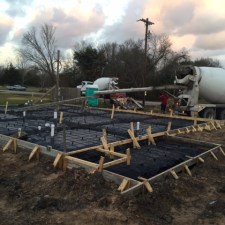 We have poured concrete at House #99