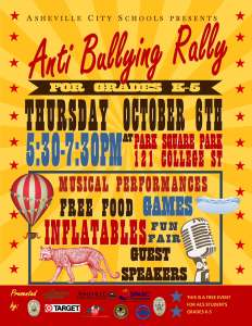 AntiBullying Rally Flyer 2016