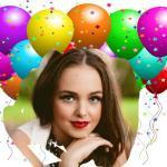 Fotomontaje de cumpleaños con globos