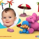 Fotomontaje de Pocoyó para bebes