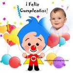 Fotomontaje de Cumpleaños con el payaso Plim Plim
